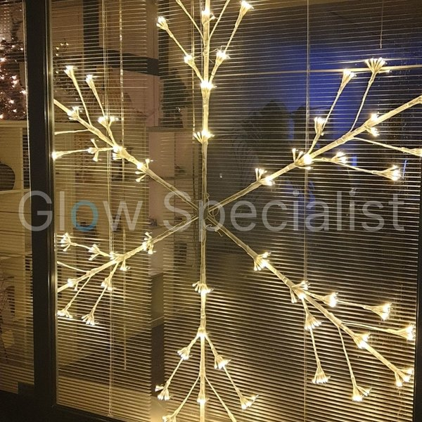 XL SNOWFLAKE WITH LIGHT - 480 LED - 150 CM - WARM WHITE