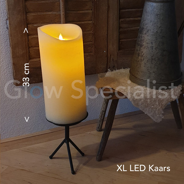 SIMUFLAME XL LED CANDLE -  WITH REMOTE CONTROL - 33 CM