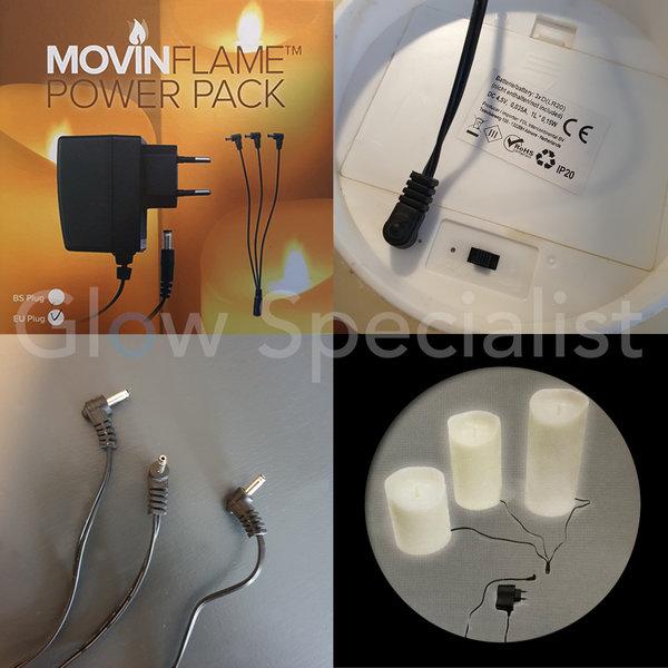POWER PACK FOR LED CANDLES - WITH 3 SPLITTER - 4.5V