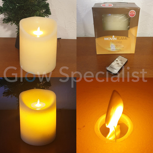 MOVINFLAME LED CANDLE - WITH REMOTE CONTROL - 18 CM