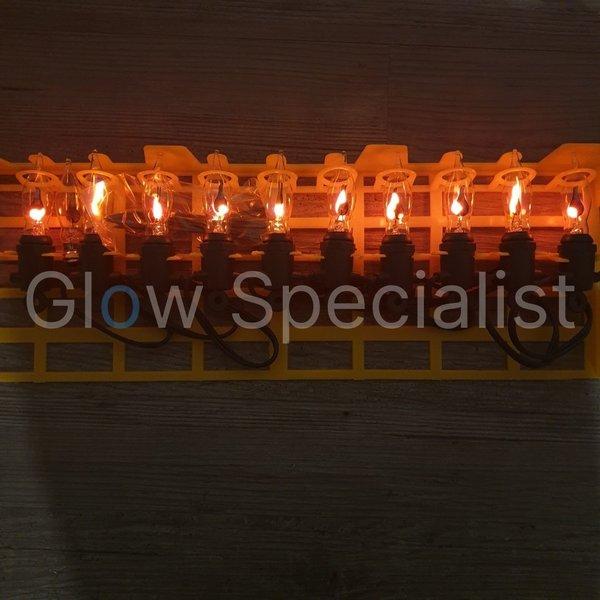 VLAMVERLICHTING - VOOR BINNEN EN BUITEN - 10 LAMPJES
