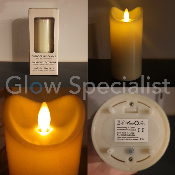 OUTDOOR LED CANDLE - WITH TIMER - 15 CM - IP44