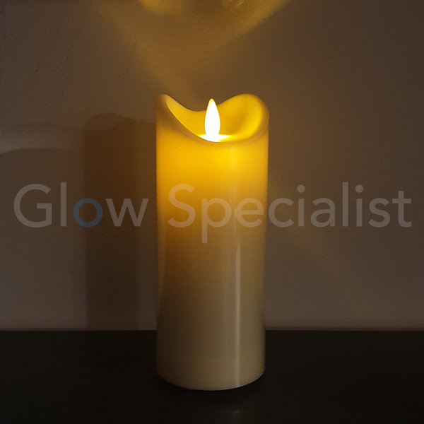 OUTDOOR LED CANDLE - WITH TIMER - 17,5 CM - IP44