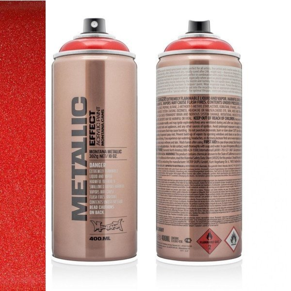 MONTANA METALLIC EFFECT SPRAY  - RED  - 400ML