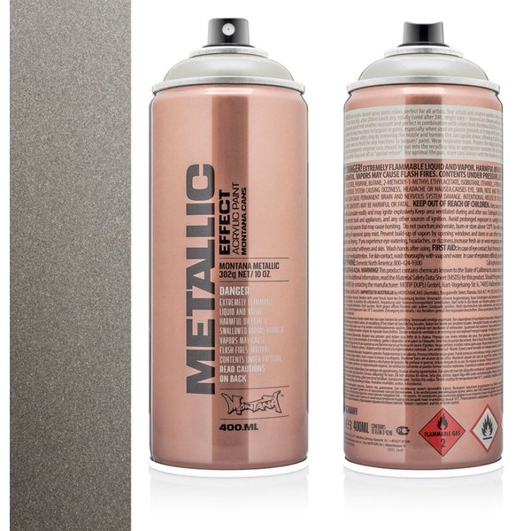 MONTANA METALLIC EFFECT SPRAY  - TITANIUM  - 400ML