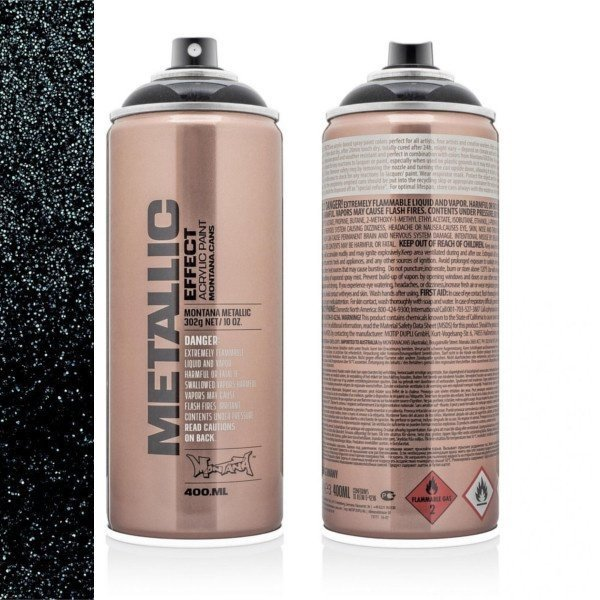 MONTANA METALLIC EFFECT SPRAY - BLACK - 400ML