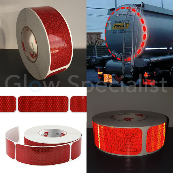 ORALITE REFLECTERENDE MARKERING STICKERS - ROOD - PER METER