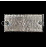 RECTANGULAR REFLECTOR WHITE - 105 X 48 MM - WITH SCREWHOLES - SET OF 2