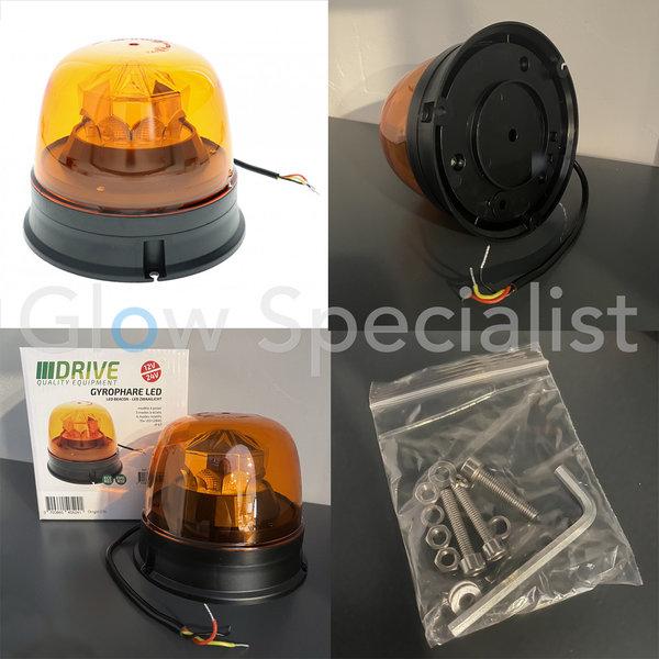 LED ZWAAILICHT- ECE R65/R10 -  12-24V - PLATTE MONTAGE - ORANJE