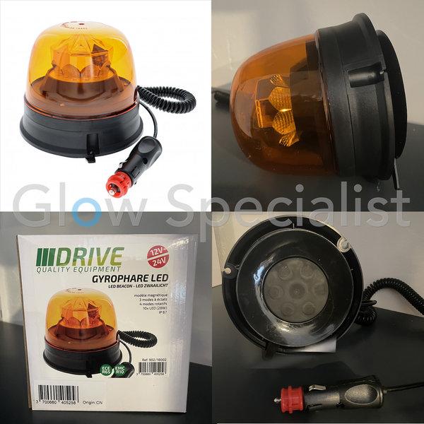 LED BEACON - ECE R65 / R10 - 12- 24V - MAGNETIC - ORANGE