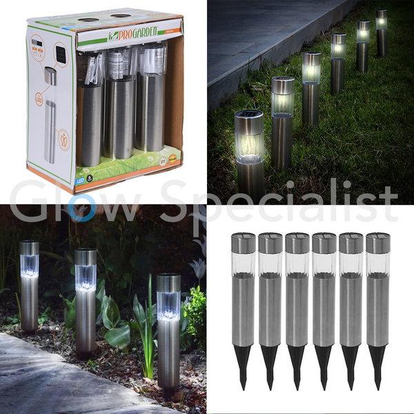 SOLAR LED GARDEN LAMPS - SET OF 6