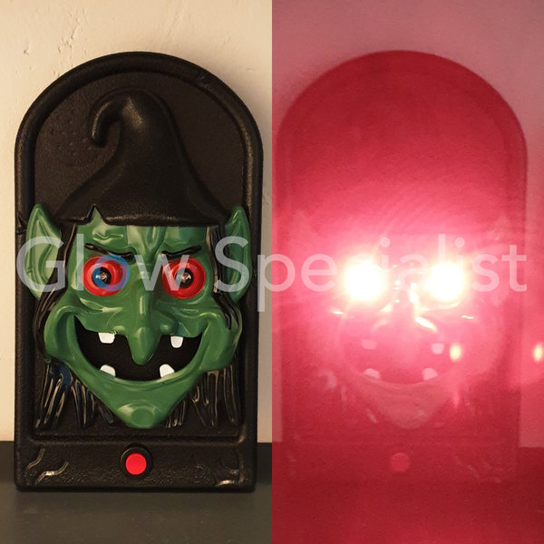 HALLOWEEN DOORBELL -  WITH LIGHTS AND SOUND EFFECTS - WITCH