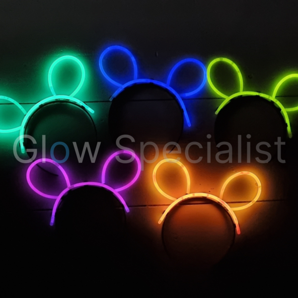GLOW BUNNY EARS COMPLETE - SET OF 5 PIECES
