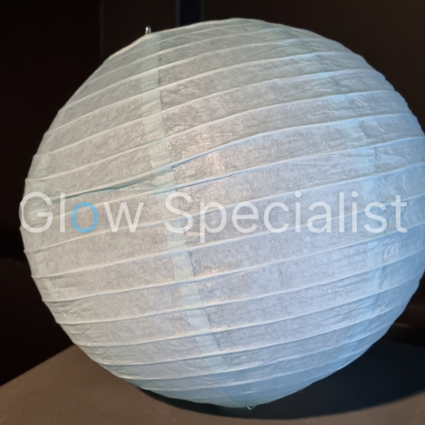 LIGHT BLUE  PAPER LAMPION - PER PIECE FROM