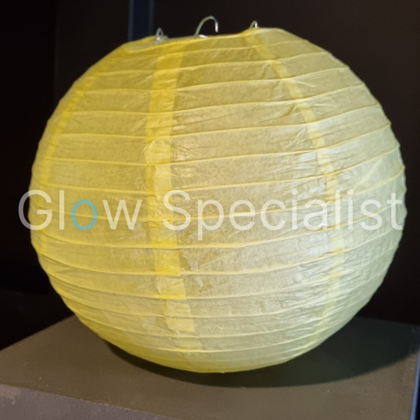 YELLOW  PAPER LAMPION - PER PIECE FROM