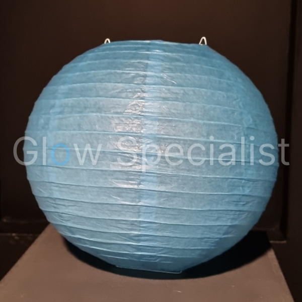 BLUE  PAPER LAMPION - PER PIECE FROM