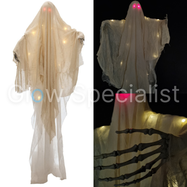 HALLOWEEN GHOST WITH RED LED EYES - 180 CM