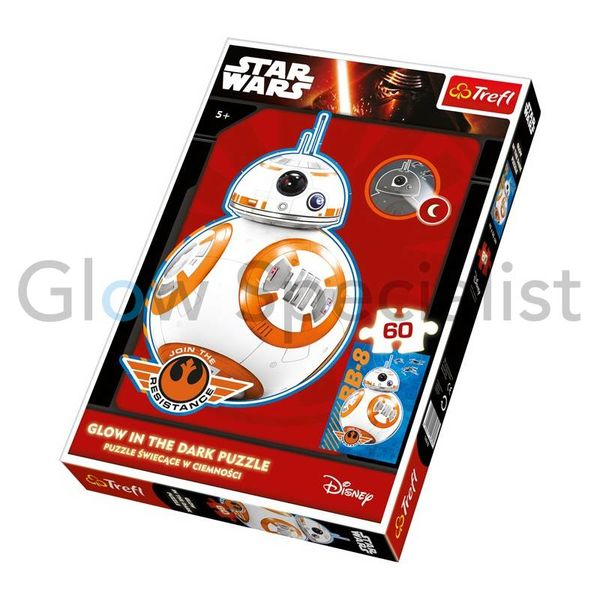 GLOW IN THE DARK PUZZEL STAR WARS BB-8 - 60 STUKJES
