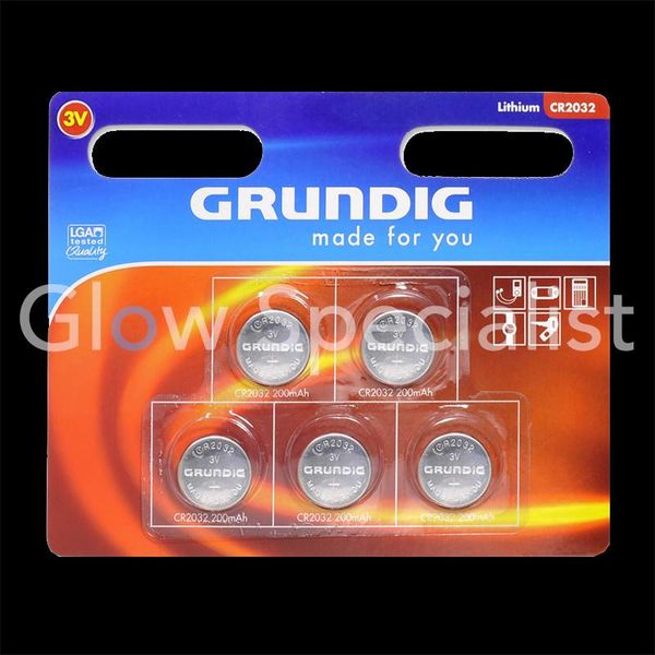 GRUNDIG CELL BATTERIES - CR2032 - 5 PIECES