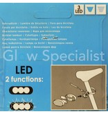 LED BIKE LIGHTS - RED AND WHITE