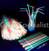 NEON FLEXIBLE STRAWS - 24 CM - 500 PIECES