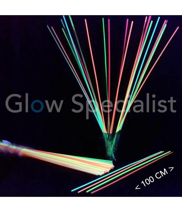 NEON RIETJES - 100 CM (XXL) - 100 STUKS