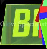 UV / BLACKLIGHT NEON ACRYLPLAAT - 67 X 50 CM