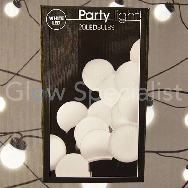 PARTY LIGHTS - WIT - 20 LAMPJES