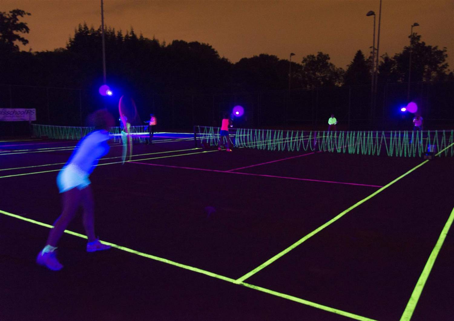 Glow in the dark tennis