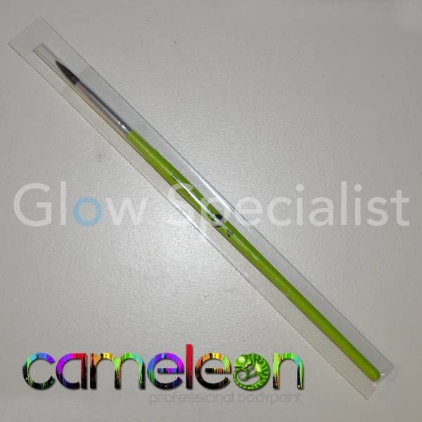 CAMELEON BRUSH - ROUND POINT - NR 4 - LONG GREEN HANDLE