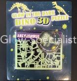 GLOW IN THE DARK 3D DINO PUZZLE - 6 ASSORTI