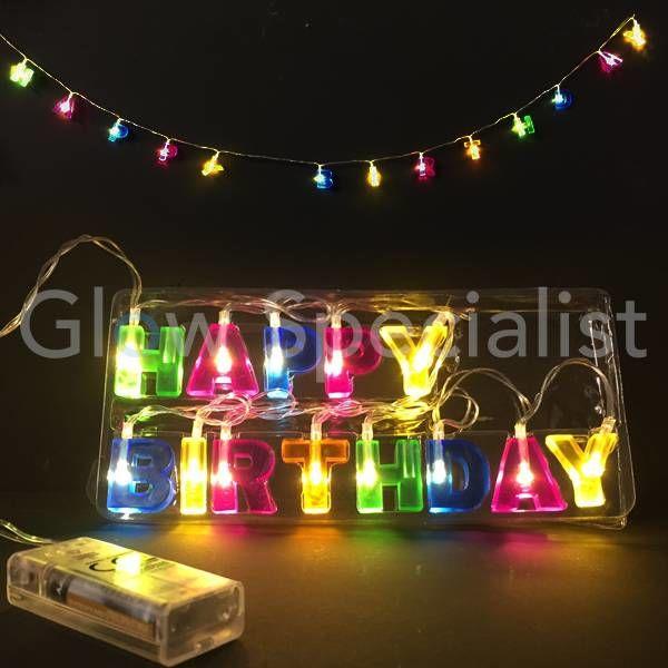 LED STRING LIGHT - HAPPY BIRTHDAY