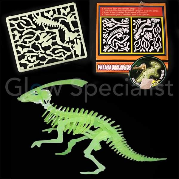 GLOW IN THE DARK 3D DINO PUZZEL - 6 ASSORTI