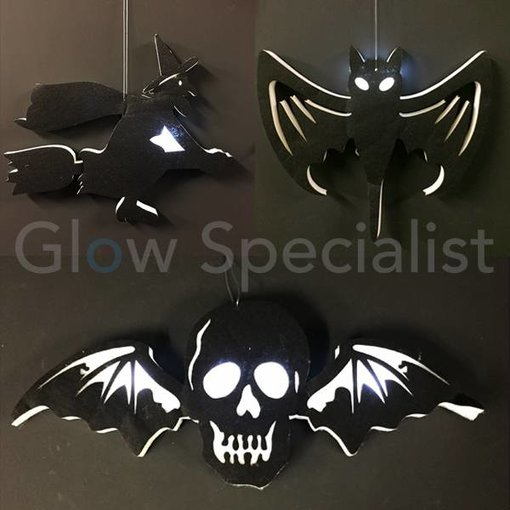 HALLOWEEN DECORATIONS LED HANG - 3 ASSORTED