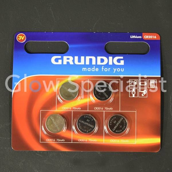 CELL BATTERIES - CR2016 - 5 PIECES - GRUNDIG