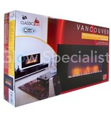 Classic Fire ELECTRIC WALL HEATER VANCOUVER - WITH REMOTE CONTROL