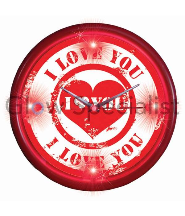 ... Party Fun Light LED WALL CLOCK - I LOVE YOU