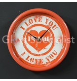 Party Fun Light LED WALL CLOCK - I LOVE YOU