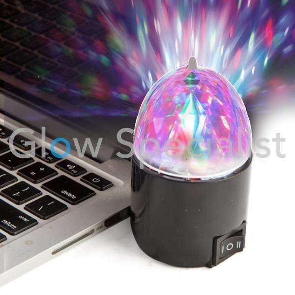 ROTEREND DISCO LAMPJE MET USB AANSLUITING