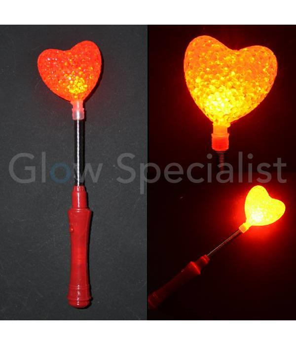 LED RED HEART ON METAL SPRING