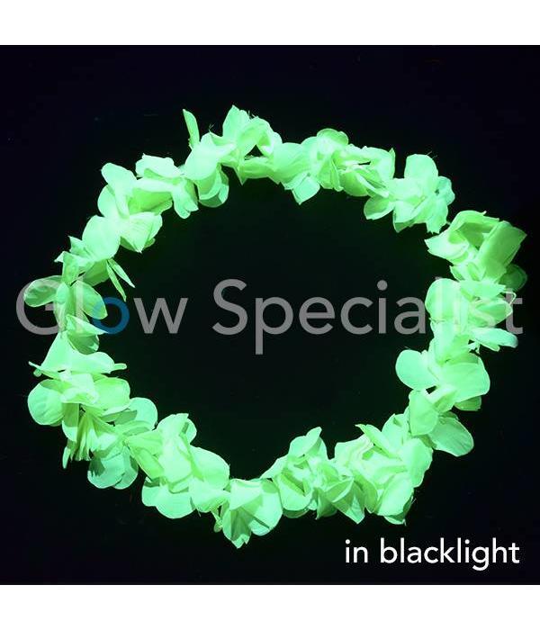 UV/BLACKLIGHT HAWAIIAN NECKLACE - YELLOW