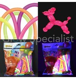 UV NEON MODELLING BALLOONS - ASSORTED - 100 PIECES