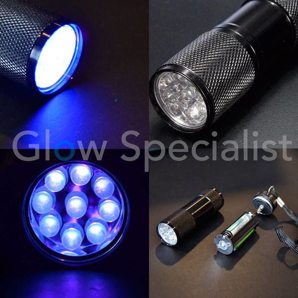 UV LED FLASHLIGHT 9 - Glow Specialist