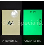 GLOW IN THE DARK A4 ADHESIVE SHEET