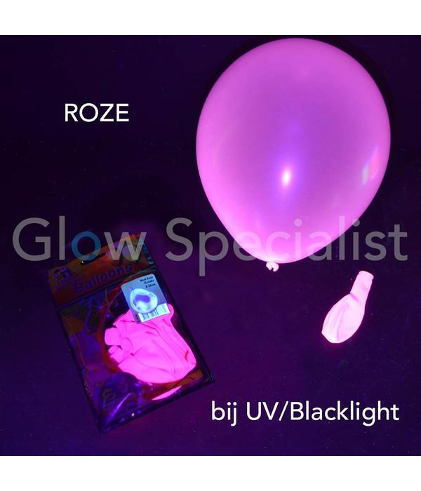 UV NEON BALLOONS - PINK - 10 PIECES