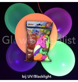 UV NEON BALLOONS - ASSORTED - 50 PIECES