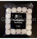 TEA LIGHTS - WHITE - 100 PIECES - 4 HOURS