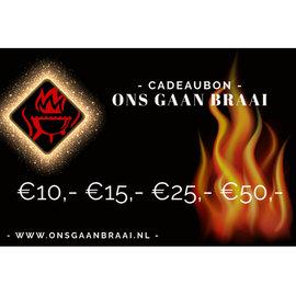 Cadeaubon €10,- €15,- €25,- €50,-