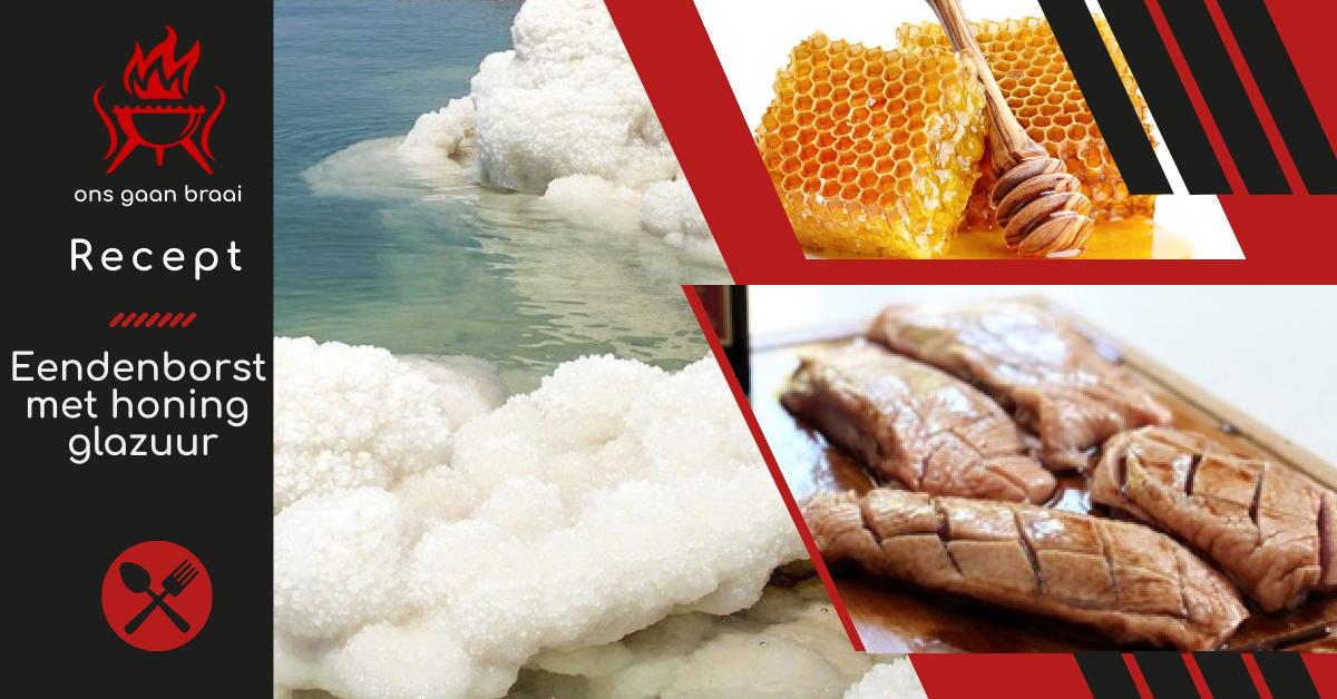 Eendenborst met honing glazuur