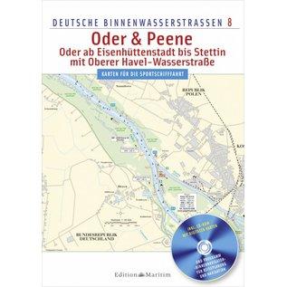 Delius Klasing Vaarkaart8: Oder en Peene Berlijn-Oostzee
